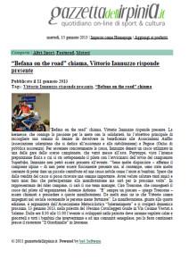 11.01.2013 - Gazzettadell'Irpinia