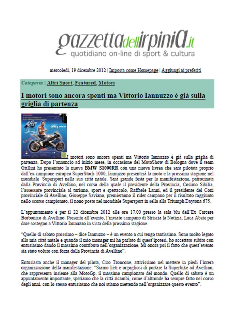 19.12.2012 - Gazzettadell'Irpinia
