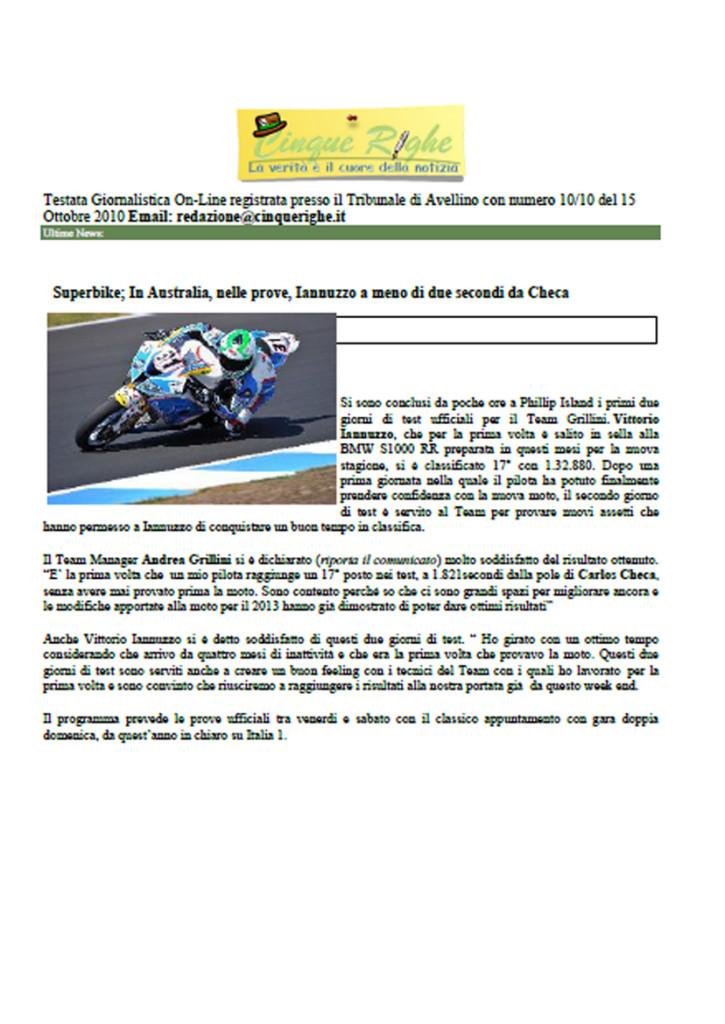 19.02.2013 - CinqueRighe