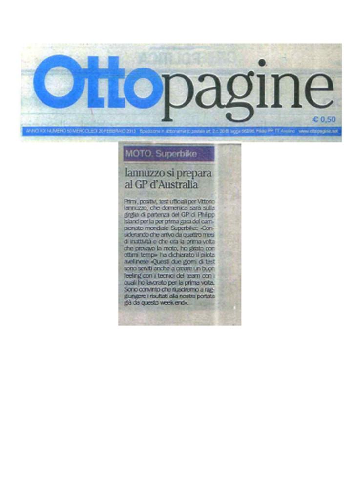 20.02.2013 - Ottopagine