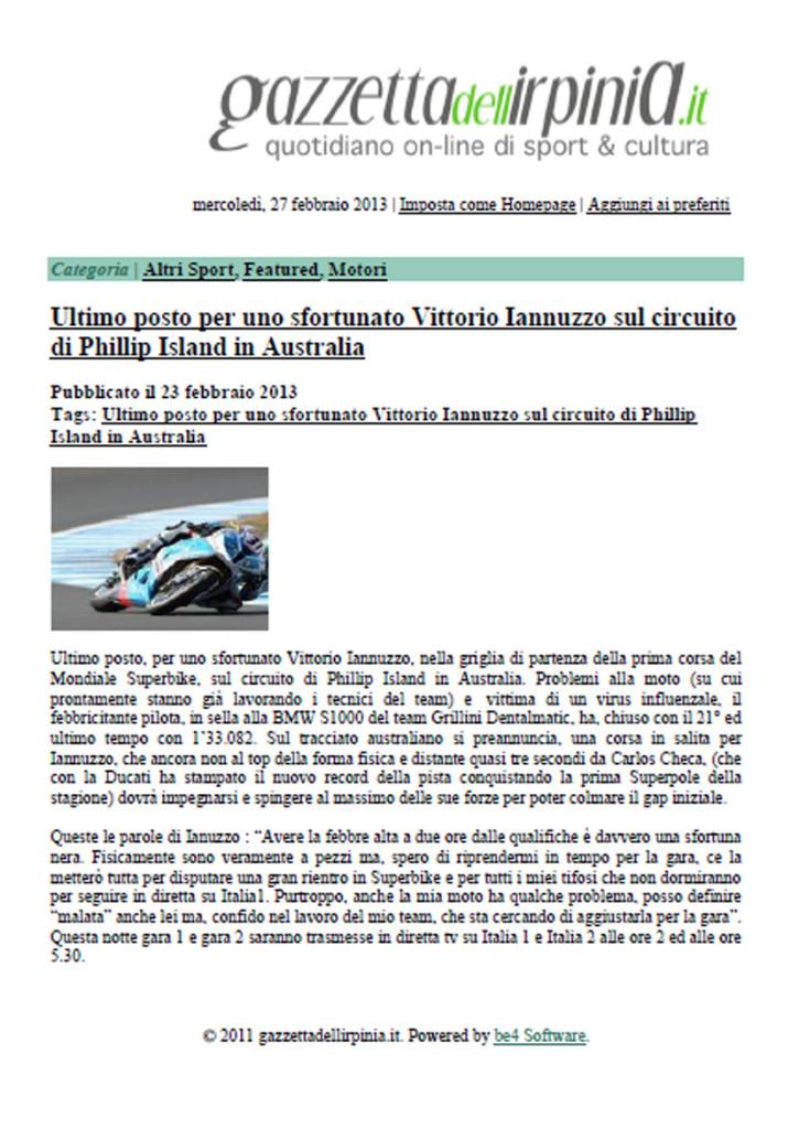 23.02.2013 - GazzettadiAvellino