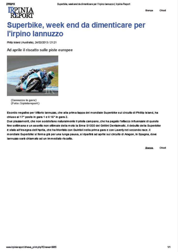24.02.2013 - Irpinia Report