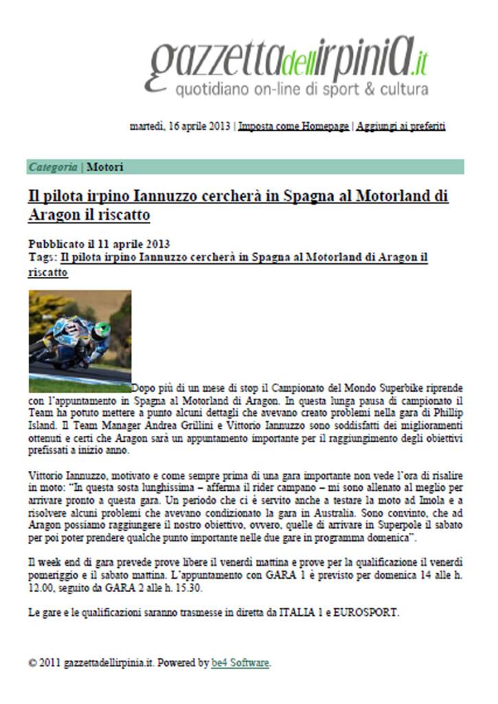 11.04.2013 - Gazzettadell'Irpinia