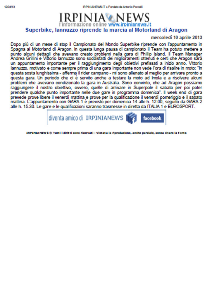 11.04.2013 - IrpiniaNews