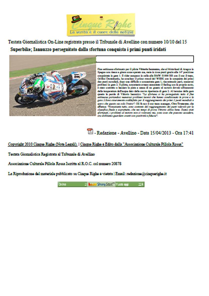 15.04.2013 - CinqueRighe