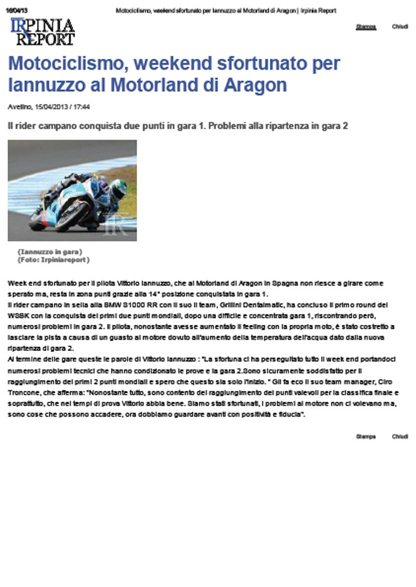 15.04.2013 - IrpiniaReport