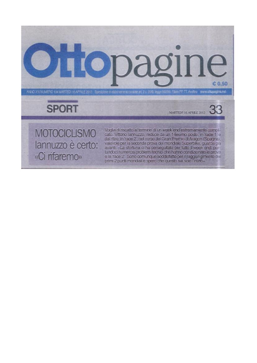 15.04.2013 - Ottopagine