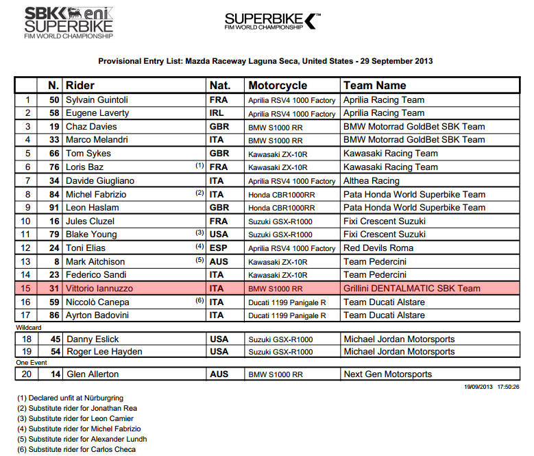 Vittorio_Iannuzzo_Grillini_Dentalmatic_SBK_BMW_S1000RR_Superbike_2013_USA_Laguna_Seca_Entry_List