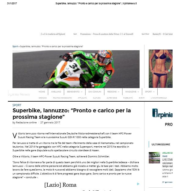 28.01.2017 - Irpinia News
